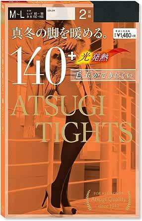 ATSUGI 厚木 140D 光发热连裤袜(2双组)黑色M-L (亚马逊自营 保税区发货)