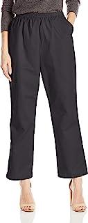 Chic Classic Collection 女式棉质松紧带长裤 黑色斜纹布 8 Petite
