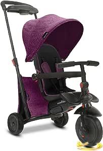 smarTrike smarTfold 500 折叠婴儿三轮车,1 岁,紫色