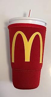 McDonalds SodaSOK 红色大号尺寸 76.2 毫升隔热氯丁橡胶饮料杯套 冰 Java SOK