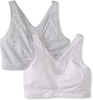 Hanes 女式舒适混纺弹性修身套头文胸(2 件装)