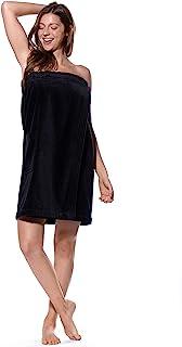 轻质及膝 SPA / 沐浴华夫格绒布丝绒身体包裹,带可调节触摸紧固件