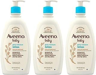 Aveeno 艾维诺 婴儿日常保湿乳液,含胶体燕麦和二甲基硅,3 X 18 液体盎司(4 瓶装)