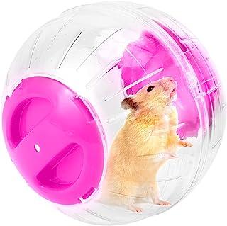 12 厘米跑步车轮静音仓鼠迷你跑步活动健身球透明仓鼠趣味球玩具小动物笼配件适用于小仓鼠