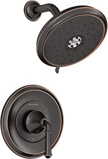 American Standard TU052501.278 Delancey 淋浴套装,带压力平衡阀芯,传统青铜