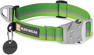 RUFFWEAR - 顶绳强韧、反光、镇流狗项圈 Meadow Green 中