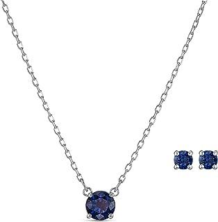 Swarovski 施华洛世奇 Attract 圆形套装,项链和耳环,带闪闪发光的施华洛世奇水晶
