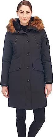 Alpine 北女式羽绒长款大衣