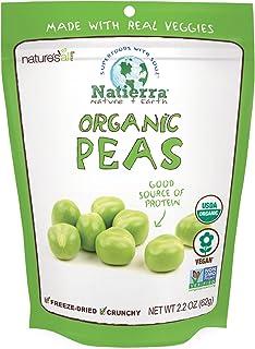 Natierra Nature's All Foods 冻干酥脆水果片, 豌豆风味, 2.2盎司(62.26克)