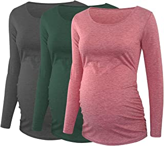Glampunch 女式孕妇衬衫 3/4 袖休闲孕妇装