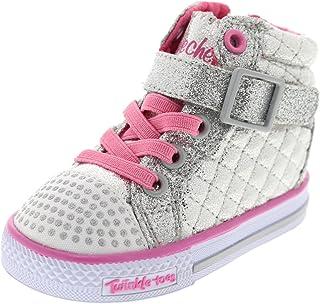 Skechers 斯凯奇 Infant/Toddler 女童 Twinkle Toes Shuffles Chitter Chatter 高帮鞋