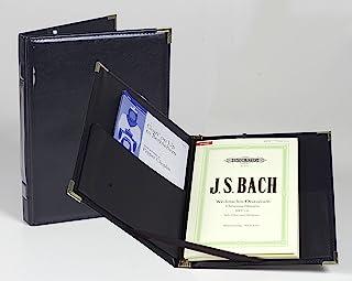 Marlo Plastics 高级音乐会合唱文件夹 9-1/4 x 12 英寸(约 22.9 x 30.5 厘米),带弹性支架、口袋、黄铜角落、铅笔750285  1包