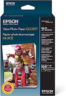 Epson 超值相纸光泽,10.16 厘米 x 15.24 厘米,100 张 (S400034) 2组