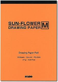 Muse 水彩纸 sunflower M画垫 A4 211g 白色 15张装 PD-6544 A4