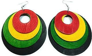 Teri's Boutique Boho 各种尺寸圆形吊坠时尚珠宝木质耳环