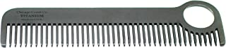 芝加哥 Comb 型号 1 黑色钛,美国制造,*设计,超光滑,坚固,轻盈,防静电,5.5 英寸。 (14 cm) 长,中等罐,终极日常使用,口袋,旅行梳