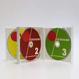 椭圆多功能媒体 日本制造宝石盒系列 24毫米厚多CD盒 可收纳3张 白色 20个 适*为蓝光盒使用