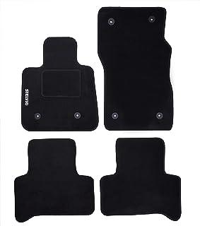 汽车脚垫由地毯制成,带商标,适用于 Stelvio ,带 6 个固定夹