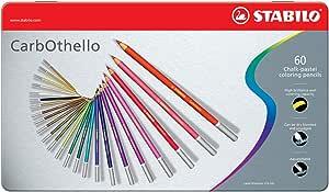 STABILO Carbothello 1460-6 蜡笔套装, 60 色/盒*1盒
