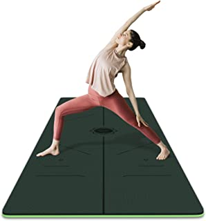 frenzybird 环保双面防滑双面 TPE 瑜伽垫带拉伸带肩带车垫携带袋免费 OF PVC 和其它有害化学品 extra-thick 适合 yogis