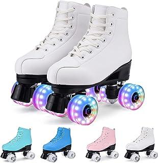 WYEING.溜冰鞋女式成人男士室内室外四个发光车轮女孩/儿童滚轮鞋