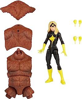 Hasbro Marvel 漫威传奇系列 6 英寸黑暗星可动公仔玩具,高级设计和铰接,包括 2 个配件和 1 个构建部件