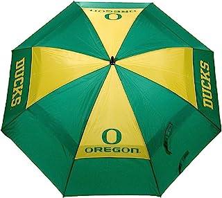 Team Golf NCAA 俄勒冈鸭队 62 英寸(约 157.5 厘米)高尔夫伞,带保护套,双伞蓬防风设计,自动打开按钮