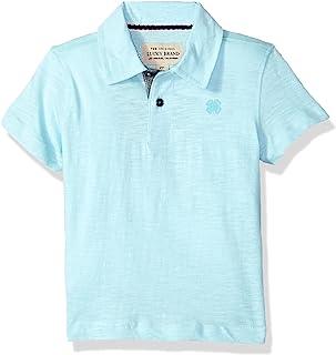 Lucky Brand 男孩短袖 Polo 衫