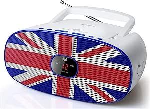 Muse MD-205 英国立体声 FM 收音机,带 CD 播放器(LED 显示屏,重复,AUX输入,伸缩天线)