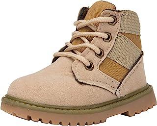 myppgg 幼童男孩女孩短靴儿童户外防水徒步及踝靴防滑婴儿雪地靴