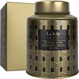 LA JOLIE MUSE 深朗姆酒和橡木香味蜡烛,家庭天然蜡蜡烛,100 小时燃烧的男士节日蜡烛,锡,13 盎司(约…