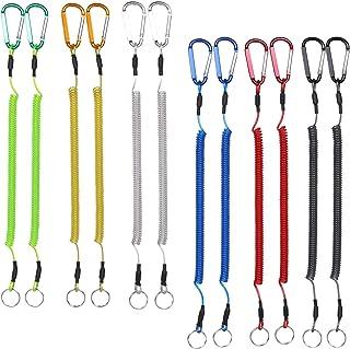 BB Hapeayou 钓鱼挂绳重型可伸缩卷绕系绳,带登山扣,适用于钳子、划船、工具