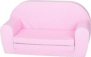 Knorrtoys 68447 儿童沙发粉红色 白色 圆点