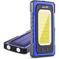 WARSUN LED 工作灯,可充电工作灯,便携式磁性工作灯,防水 LED 太阳能泛光灯,适用于户外野营、徒步、紧急维修…