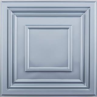 Art3d 装饰吊顶瓷砖 2x2 12 件装,胶水天花板板方形浮雕灰色