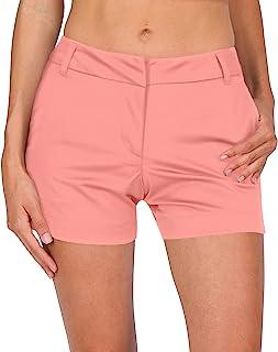 Three Sixty Six 女式高尔夫短裤 - 速干运动短裤带口袋,运动透气 - 4.5 英寸(约 11.3 厘米)内缝