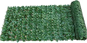 EKDJKK 人造隐私围栏屏幕 19x39 英寸(约 48.2x100.1 厘米)人造篱笆围栏庭院墙壁格子栅栏,适用于室外室内花园栅栏后院
