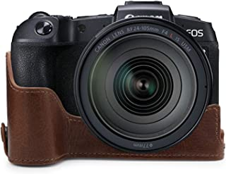 MegaGear Ever Ready 真皮相机半壳,兼容佳能 EOS RPMG1740 棕色