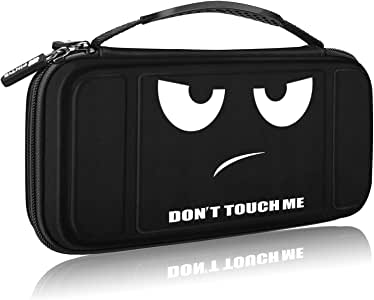 Fintie 任天堂开关便携包 - [防震] 硬壳保护盖旅行包,带 10 个游戏卡槽,内袋适用于 Nintendo Switch 控制台 Joy-Con 和配件,请勿触摸