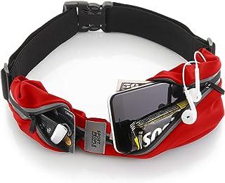 sport2people 跑步腰带美国* - 免提锻炼腰包 - iPhone X 8 11 12 Pro Buddy 跑步者袋 - 自由式反光腰包手机支架 - 健身装备配件 酒红色