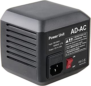 Godox AD-AC 电源适配器单元,带 5M 电缆,适用于 Godox AD600 AD600M AD600B AD600BM Flashpoint XPLOR 600 闪存
