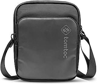 tomtoc 迷你斜挎包,8 英寸小型斜挎包,适用于 iPad Mini 5 4 3 2 1,Galaxy Tab 8.0,Switch Lite 控制台,iPhone,钱包,护照,男士日常单肩包 EDC 包,适合工作,周末