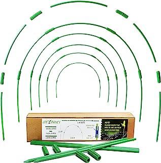 花园箍适用于高床– 6 件温室箍套件 2 英尺 x 2 英尺桩室内室外便携式房屋温室框架植物排盖凸起床网