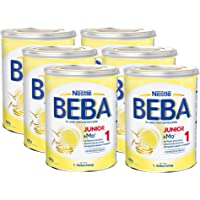 Nestlé 雀巢 BEBA Junior 1 幼儿奶粉 适用于1岁以上幼儿, 6罐装(6 x 800g)
