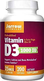 Jarrow Formulas 维生素D3 1000 Iu 软胶囊 200片