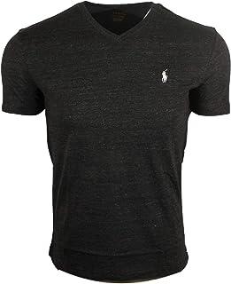 Polo Ralph Lauren 保罗拉夫劳伦男式标准尺码 V 领衬衫(M 码,黑色混色)