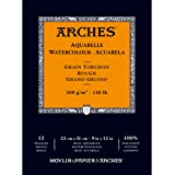 Arches Watercolor Rough Paper Pad 140# 12 Sheets-12 Sheets