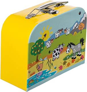 "BIECO 04003021 Siva ""旅行箱动物图案小号,黄色(Gelb),20厘米"