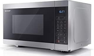 夏普 YC-MG81U-S 28 升 900W 数字触摸控制微波炉 1100 W 烧烤和陶瓷珐琅内饰 - 银色