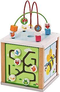 Lelin 31611 木制自然活动立方体串珠线迷宫创意教育游戏玩具